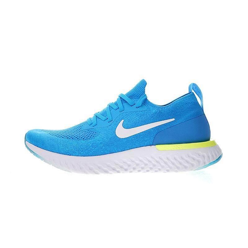 Nike Epik Bereaksi FLYKNIT Pria Berlari Sepatu Sneakers Kualitas Olahraga  Luar Ruangan Sepatu Pria 5bf87a5435