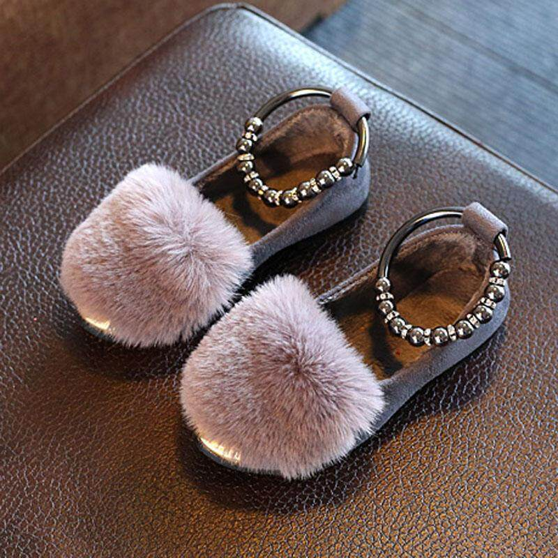fa062efd4321 Autumn And Winter New Style girl women Warm Shoes Small Leather Shoes  Korean Style Girls Princess