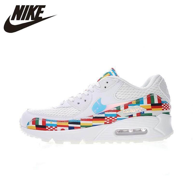 Nike_Air_Max 90 NIC QS Bendera Internasional Pria Berlari Sepatu Sport Sepatu Sneaker Luar Ruangan Olahraga Alas Kaki Desainer 2018 Baru AO5119