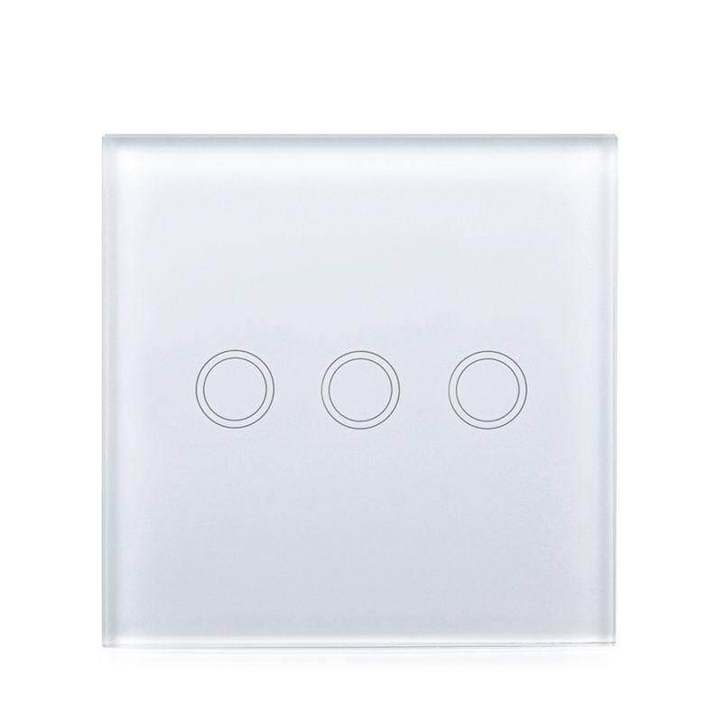 SC Touch Switch with 3 Single Control Channels EU/UK Regulation Models:3 way white