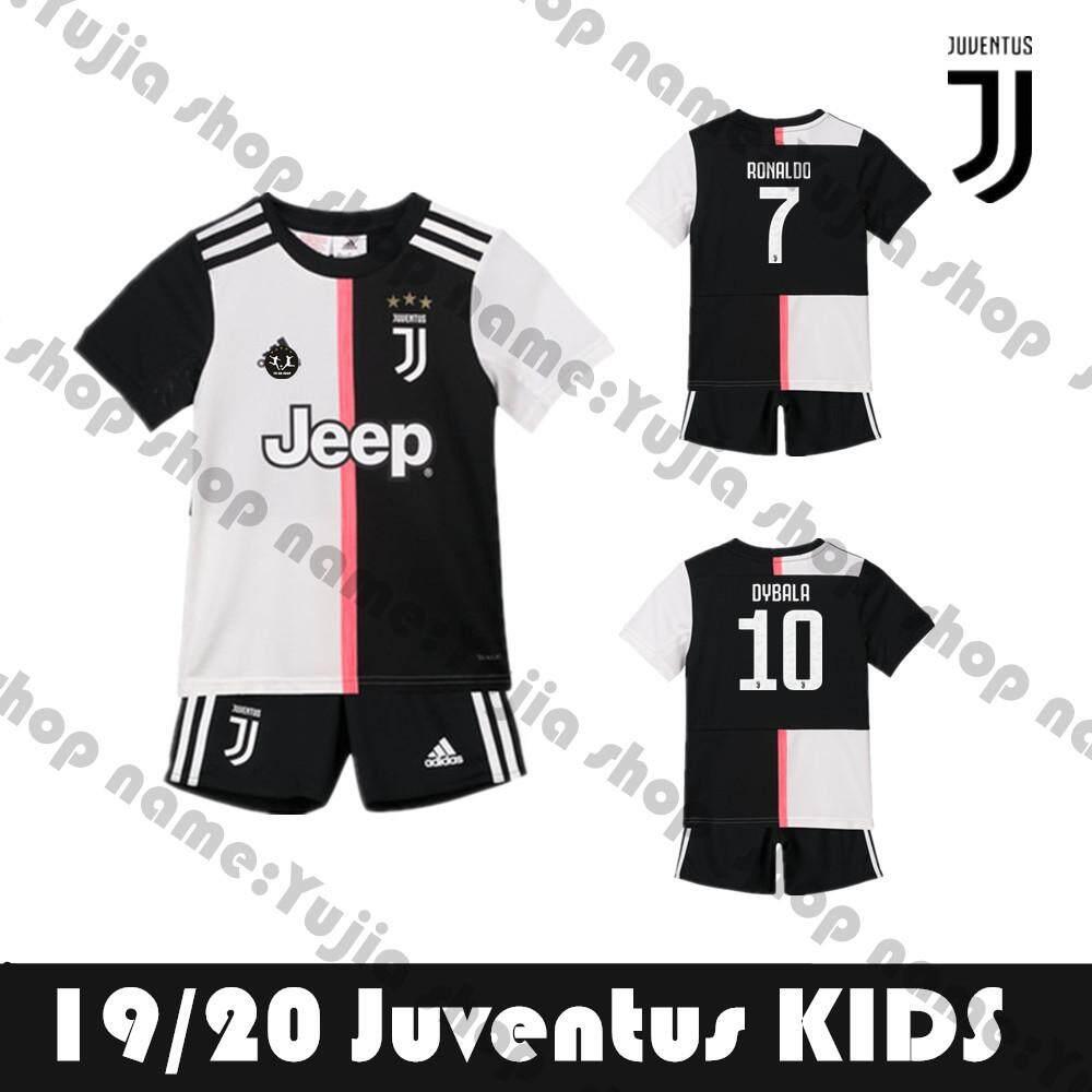 buy popular c9651 78196 2019/2020 Juventus HOME kids Jersey Children soccer Grade Ori Sports  Apparel New shirt+ shorts(Ronaldo 7)