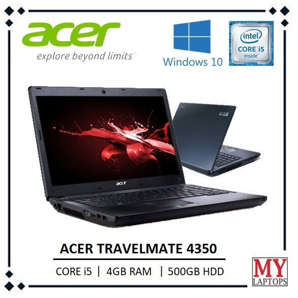 ACER TRAVELMATE 4350 SUPERDUTY [CORE i5 / 4GB RAM / 500GB HDD] DVR-RW / WINDOWS 10 PRO Malaysia