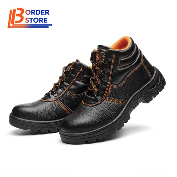 Giày bảo hộ dành cho nam kháng khuẩn chống màu mòn chất liệu PU mũi và thân thép chống đâm thủng