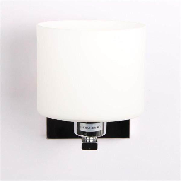 Hot Sales New White Glass Shape Chrome Wall Light Lamp Sconce Lighting Corridor