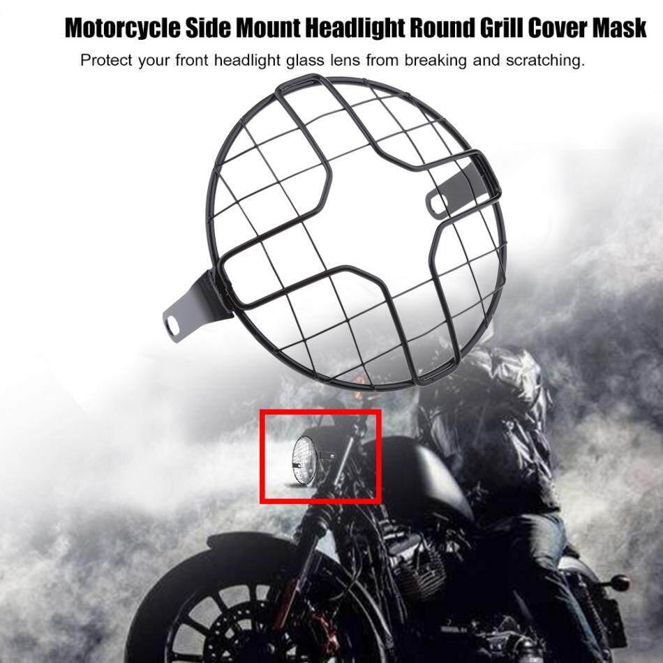Gazechimp 7 Headlight Mesh Grill Retro Guard Motorcycle Headlamp Light Cover