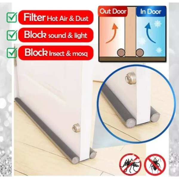 【Ready Stock Msia】Door bottom sealing strips Sound-proof door and window gap rubber strips block light, sound, insect