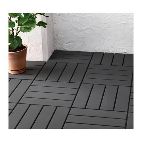 RUNNEN 9 Pieces Floor decking - Outdoor - Dark Grey