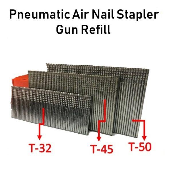 T32 T38 T45 T50 Pneumatic Air Nail Stapler Gun Refill Ubat Paku Tembak Angin T32 T45 T50 Refil Air Nailer