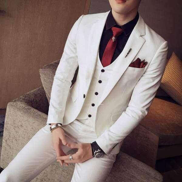 The Groom Korean-Style Men Slim Fit Wedding Dress For Women Suit By Gtteoiak.
