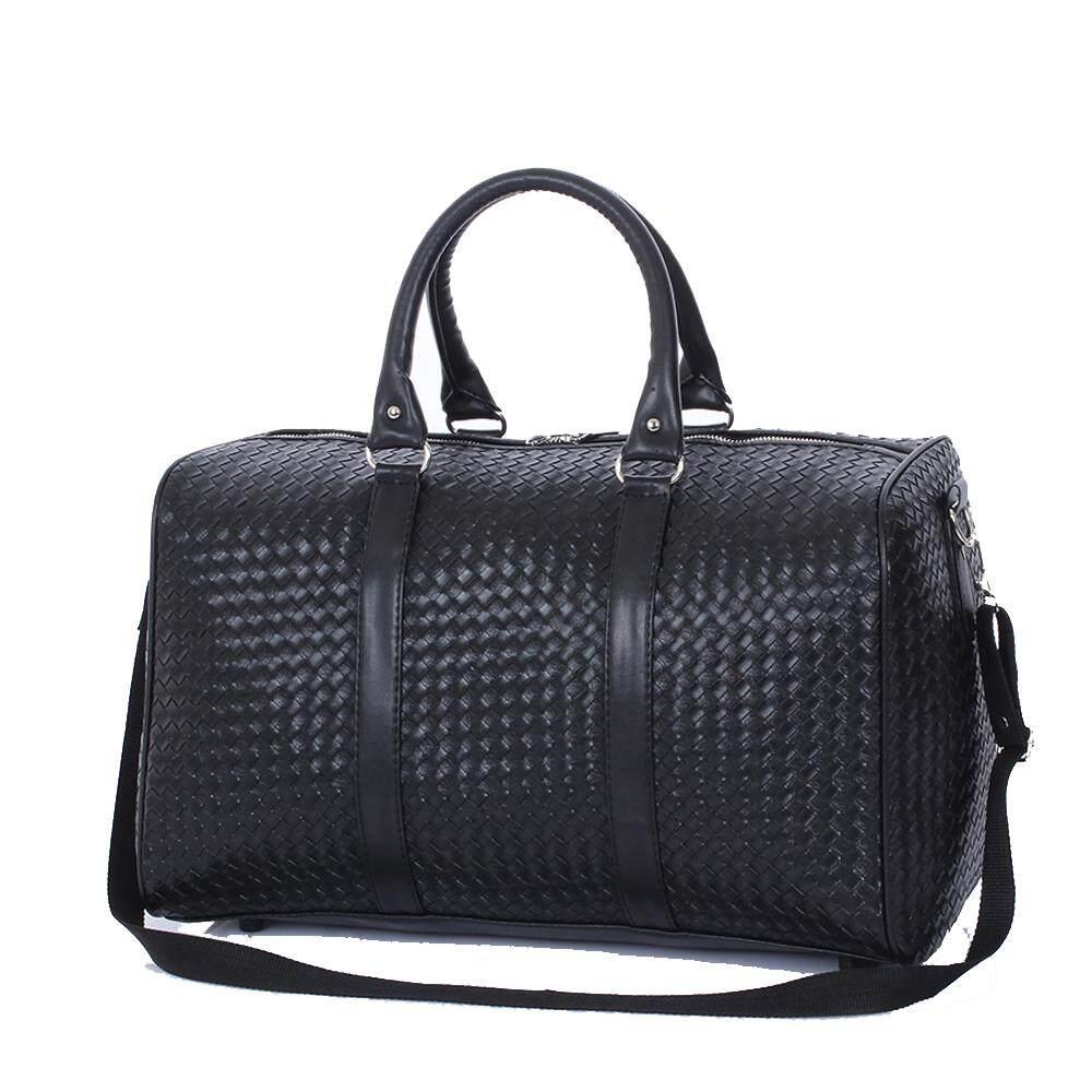 Fashion Leather Men Travel Bag Versatile Women Travel Bag Waterproof Black Cool Zipped Shoulder Bags Handbag luggage Portable Gym Bag Men&Women Sport BagFitness Travel Duffel Shoulder Bags Handbag Camping Waterproof