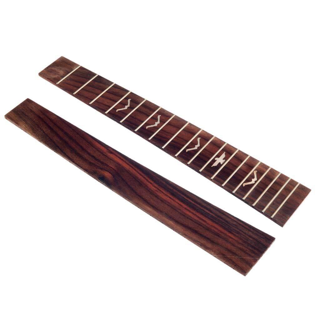 Baoblaze 26 Inch Tenor Ukulele Ván Trượt Ngón Tay] Gỗ Hồng Sắc Guitar Luthiers Dụng Cụ Tự Làm Các Bộ Phận