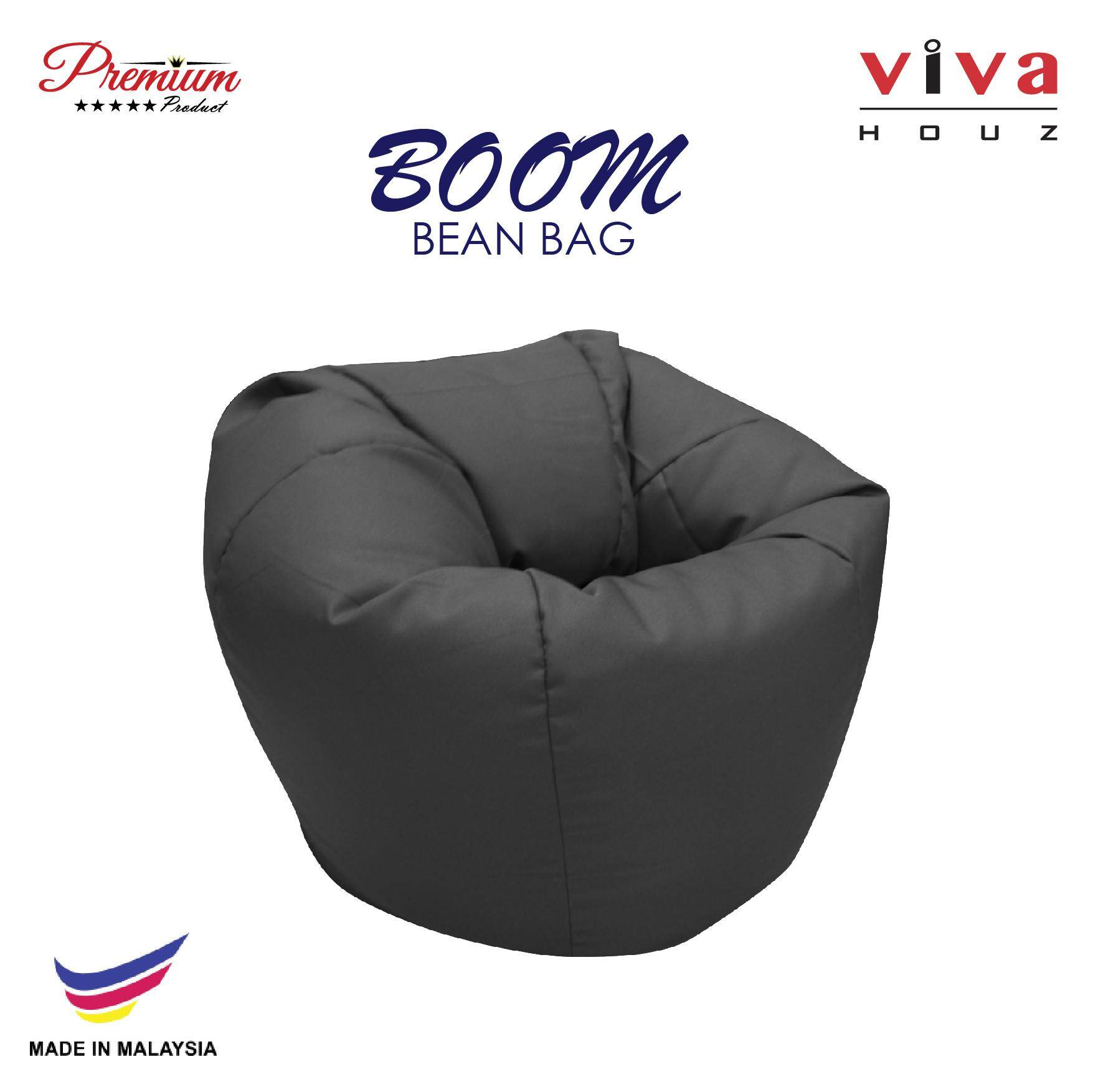 HOT SELLING : Viva Houz Boom Bean Bag Sofa Pouffe Chair L Size Grey Made In  Malaysia