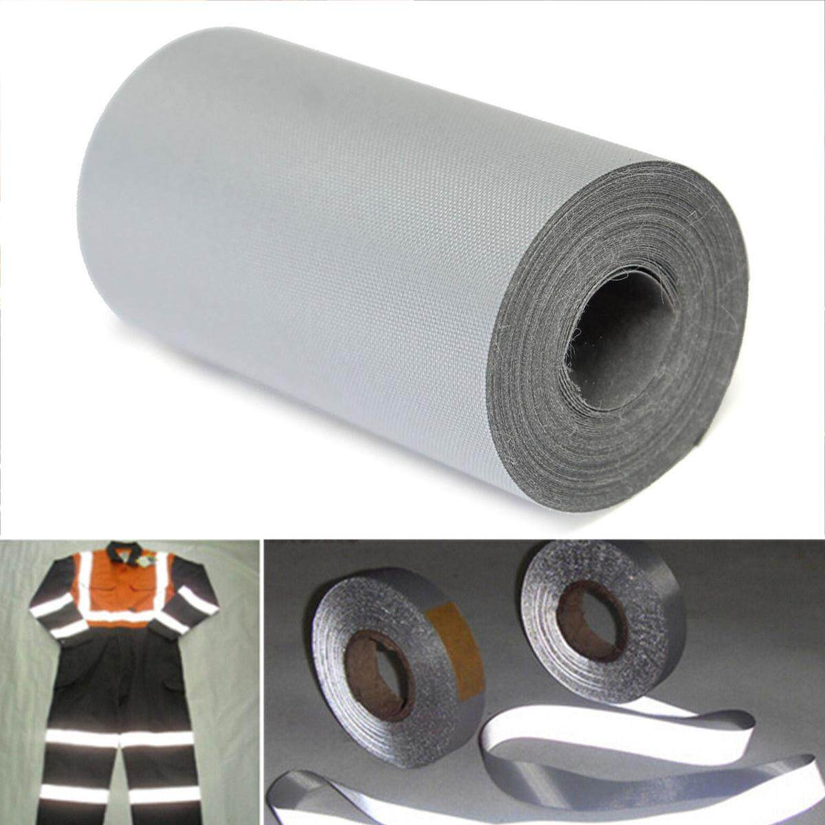 3 Meter Silver Fabric Reflective Warning Tape Safety Sew Trim Sticker New