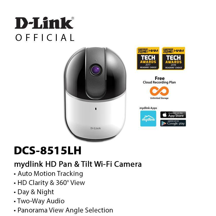 D-Link DCS-8515LH HD Pan & Tilt Auto Motion Tracking Wi-Fi Camera