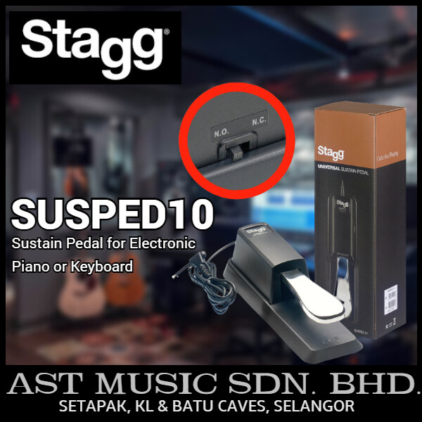 Stagg Universal Sustain Pedal for Electronic Piano or Keyboard Malaysia