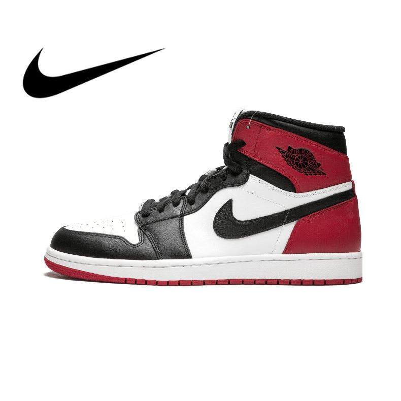 ff6ef92cdac Authentic Nike Men's Basketball Shoes Sneakers Air Jordan 1 OG Retro Royal  AJ1 Breathable Sports Outdoor