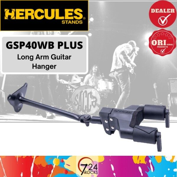 724 ROCKS Hercules GSP40WB Plus Auto Grip System (AGS) Guitar Hanger Steel Wall Mount Long Arm Malaysia