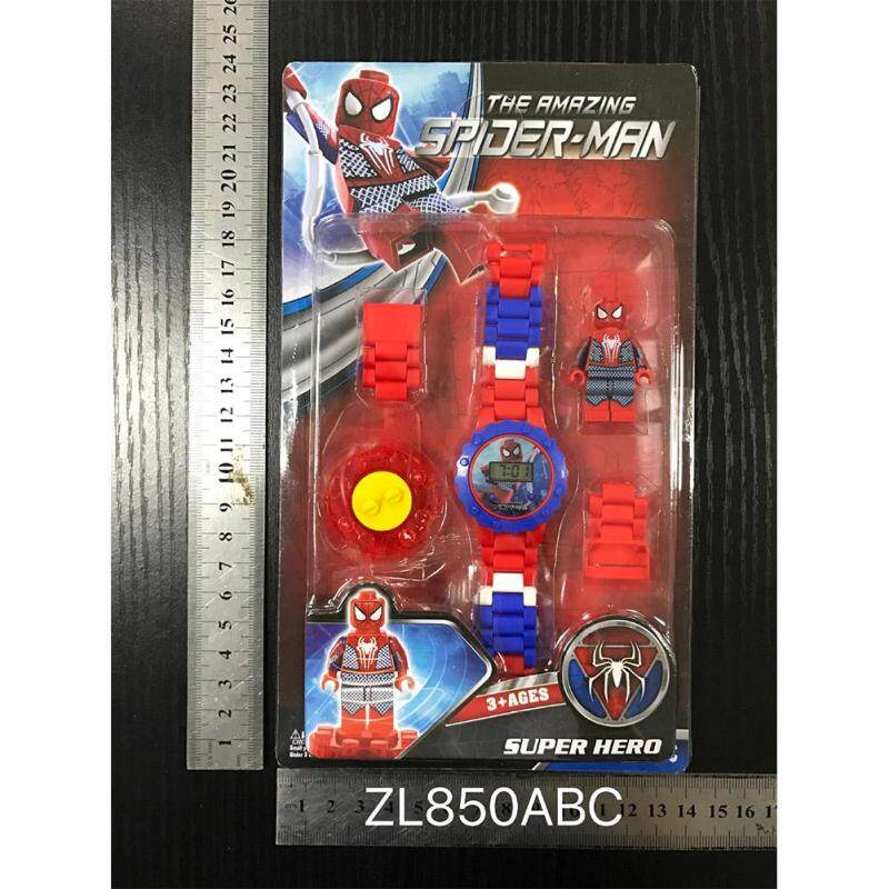 Timemall Children Kids Watches Marvels The Avengers Cartoon Building Blocks Watch DIY Puzzle Toy Watch Malaysia