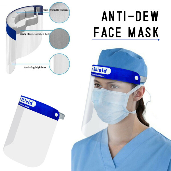 【ready stock】5pcs/10pcs HD clear Full face shield with sponge visor outdoor eye shild Protective isolation facemask
