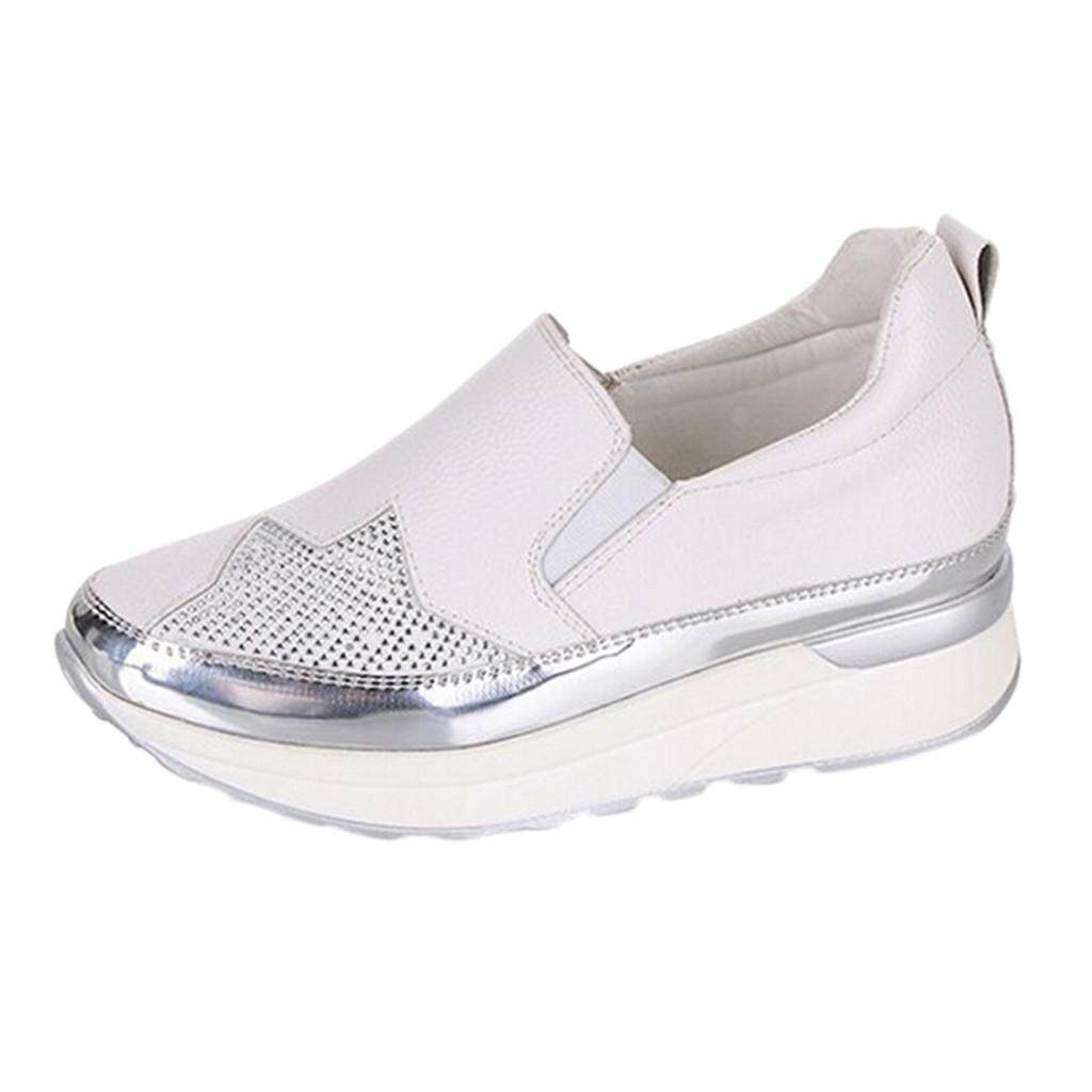 7502956e8 GUO Women's Breathable Sneakers Wedges Shoes Casual Sports Shoes Ladies  Single Shoes