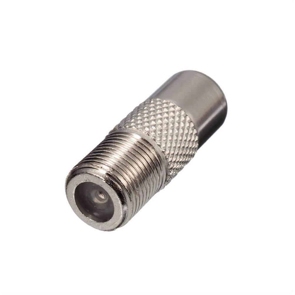 5pcs Aluminium Alloy F Type Socket To Coax Rf Iec Aerial Plug Male Adapter Twist On Connector.