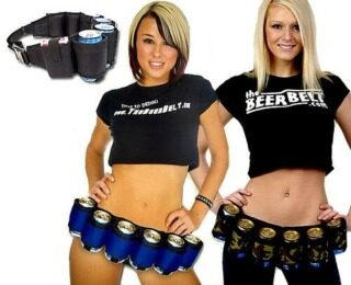 6 Packs Home Beer Can Holder Belt Holster Party Prank Gag Joke Gifts Funny thumbnail