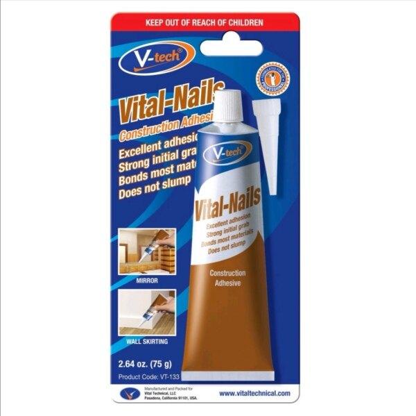 V-Tech VT-133 Vital Nails Construction Adhesive Sealant Wood Silicone 75g