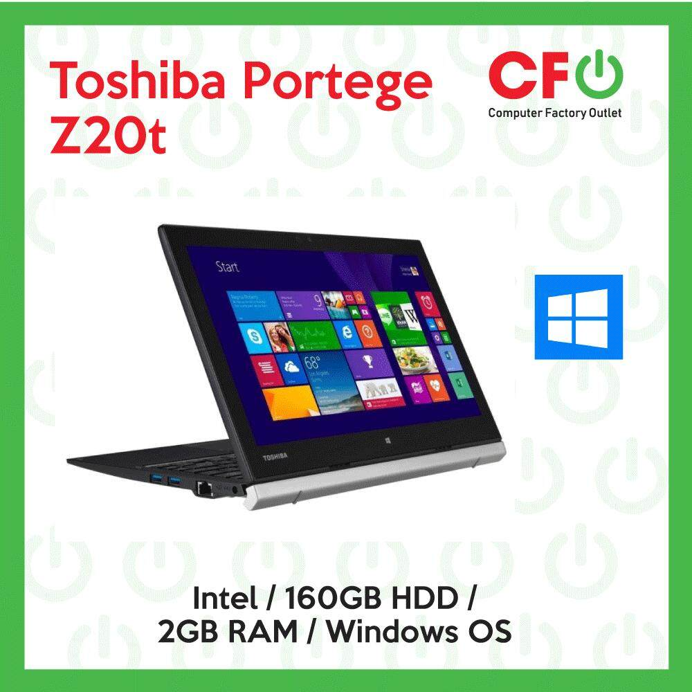 Toshiba Portege Z20t / Intel / 2GB RAM / 160GB HDD / Windows OS Laptop / 1 Month Warranty (Factory Refurbished) Malaysia