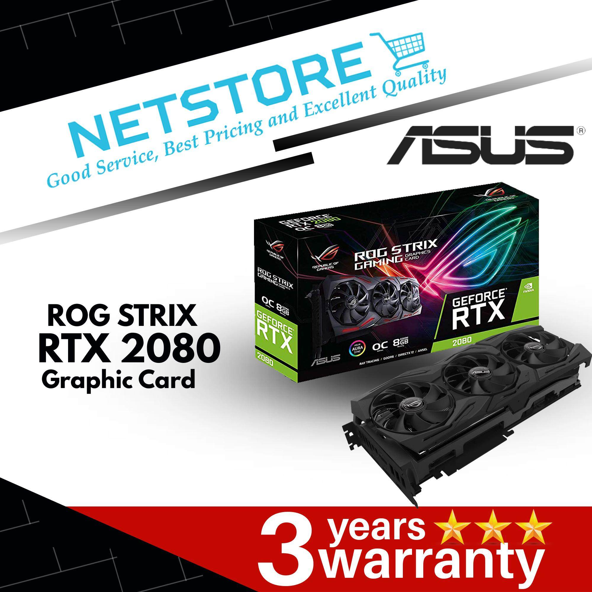 ASUS ROG STRIX GeForce® RTX 2080 Overclocked 8G GDDR6 Graphic Card  ROG-STRIX-RTX2080-O8G-GAMING