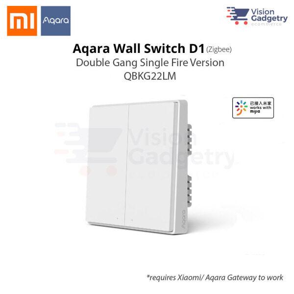 Xiaomi Aqara Smart Home Switch D1 Wall Plug Double Gang Single Fire ZigBee QBKG22LM