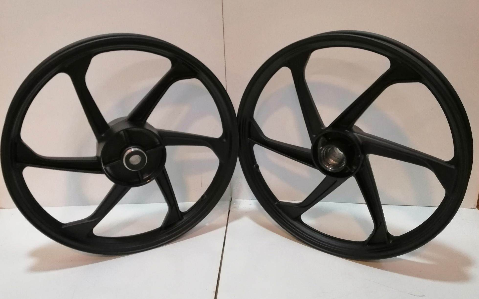 666 Sport Rim • Honda Wave125 (black) By K.k Motorspareparts.