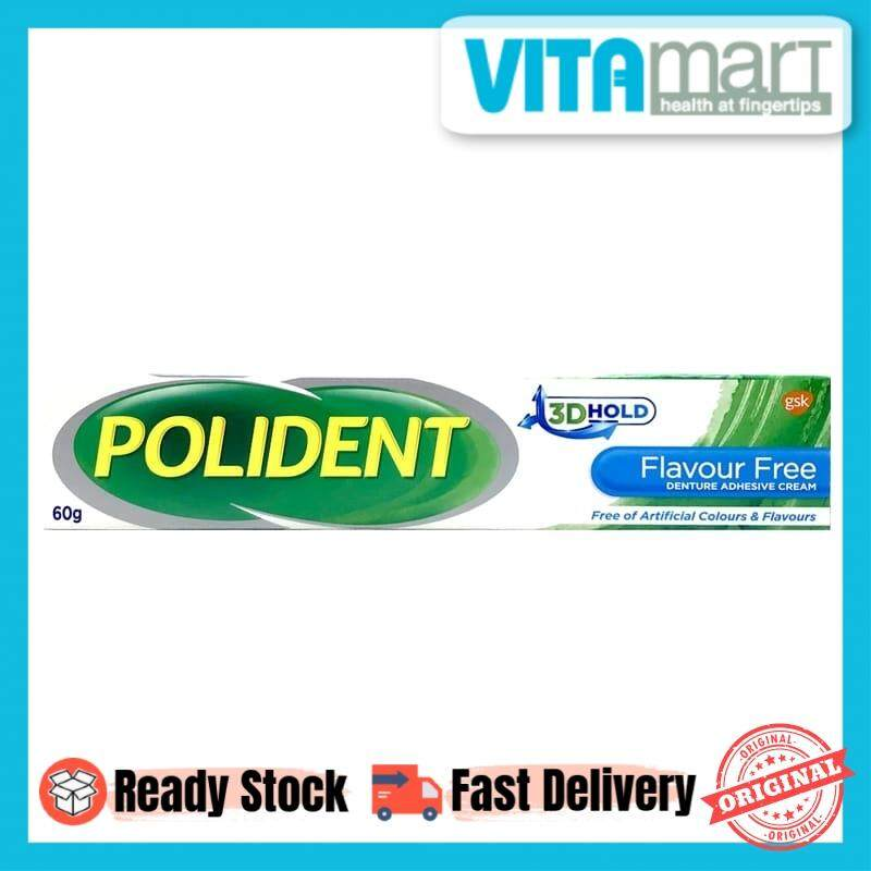Polident Flavour Free Adhesive Cream (60g)