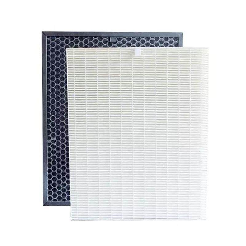 FU-888SV HEPA and Actived Carbon Filter For Sharp FU-P60S FU-888SV FU-4031NAS FU-P40S Air Purifier Parts 39*31*3.5cm+39*31*1cm Singapore