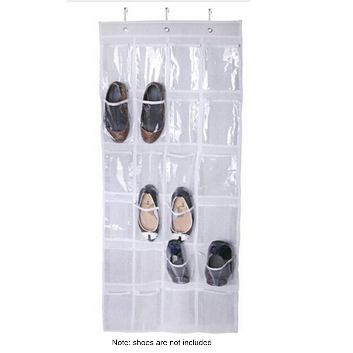 Bán Chạy Nhất 24 Lưới Giày Túi Bảo Quản Cửa Phòng Tắm Túi PVC Cửa Phía Sau Túi Treo Vật Dụng