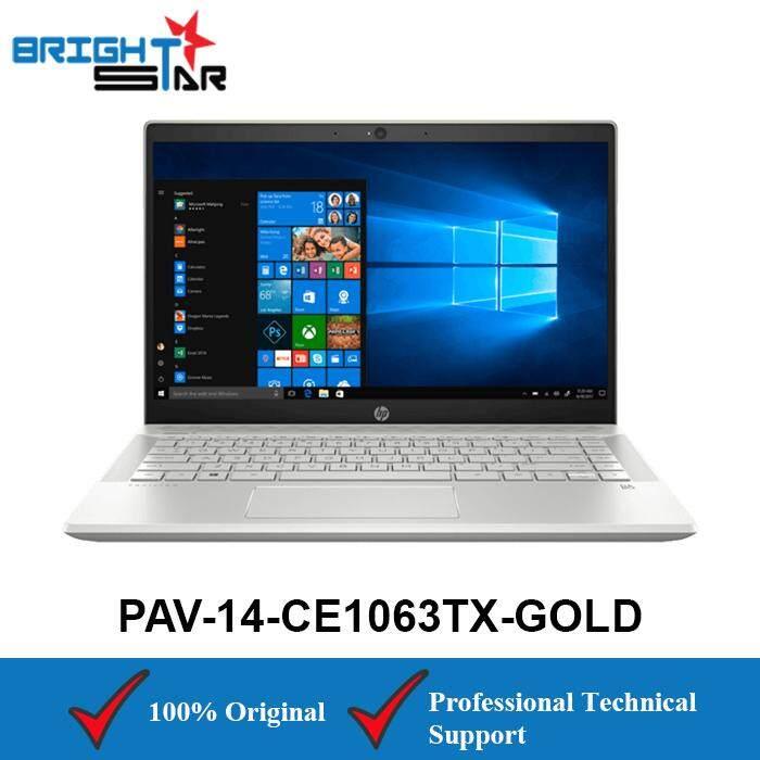 HP Pavilion 14-CE1063TX Gold (Intel I7-8565U/4GB/1TB+128GB/MX150 2GB) Malaysia