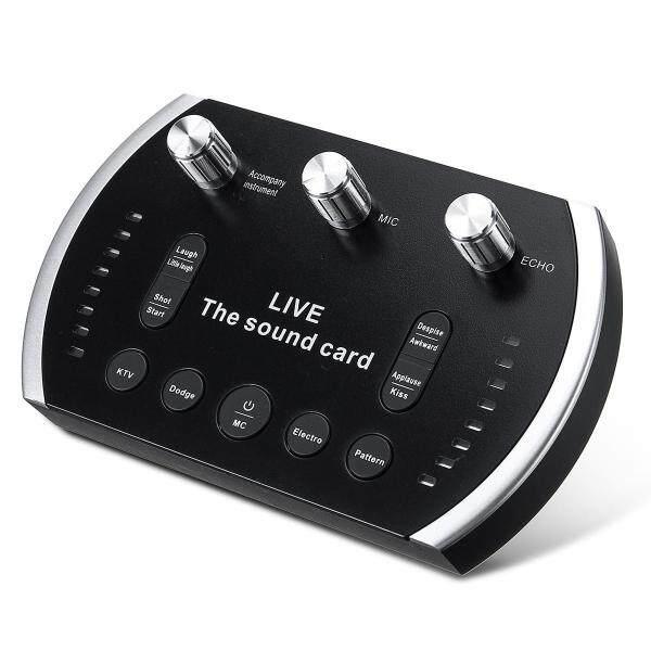 Giá V8 Voice Converter Intelligent Voice Control Colorful Light Voice Converter Live Sound Card Headset Microphone Sound Card Speaker for Phone Computer