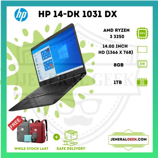 HP 14-dk1031dx - 14 - Ryzen 3 3250U - 8 GB RAM - 1 TB HDD ( BEST FOR POWERFULL GAMING ) BOX PACK ( BRAND NEW - with 1 YEAR WARRENTY ) Malaysia