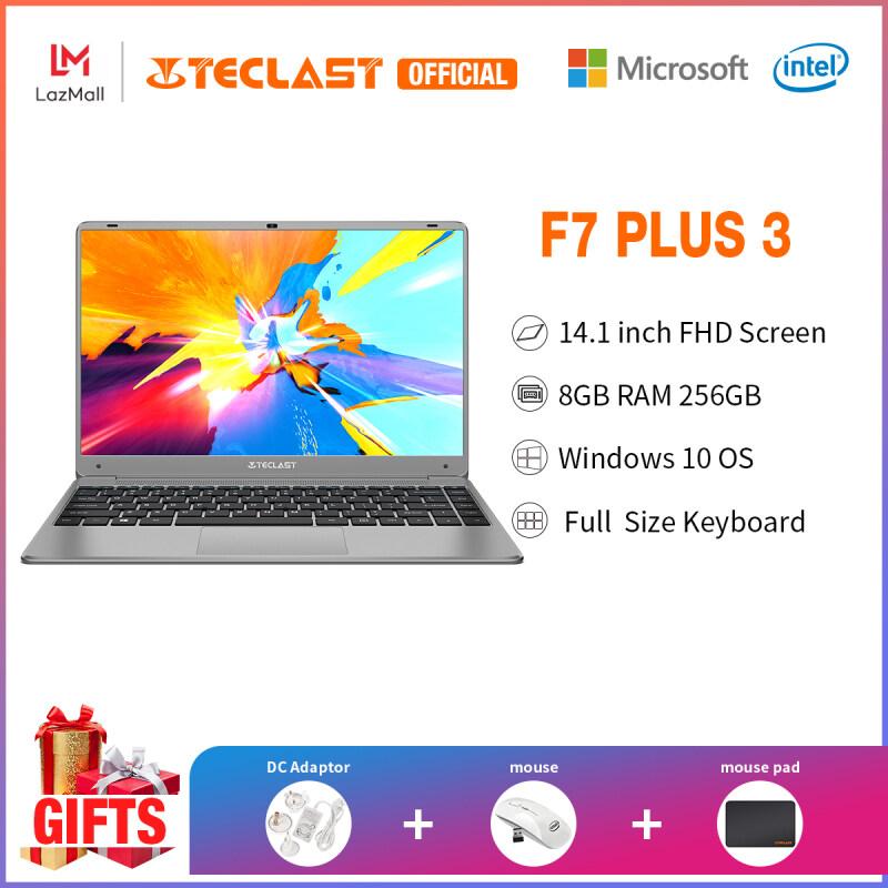 2021 New Teclast Official F7 Plus 3 Laptop |14.1 inch FHD Screen Laptop|8GB RAM 256GB SSD|Traditional notebook murah|Windows 10| Intel Celeron N4100 |Blacklit Keyboard|1 year warranty|For Students Online Learning|Free Gifts|1 Year Warranty Malaysia