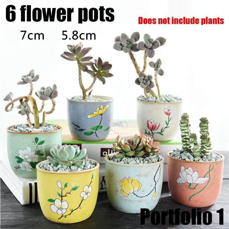Bundle Set 4pcs 6pcs DIY Self Watering Planter Flower Pots Home Garden Decor Grow Bags Fabric Pots with Strap Handles for Garden and Planting Grow succulents