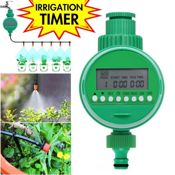 【Ready stock】Automatic Electronic Water Timer Garden Irrigation Timer with LCD Display Intelligent Plants Watering System Controller