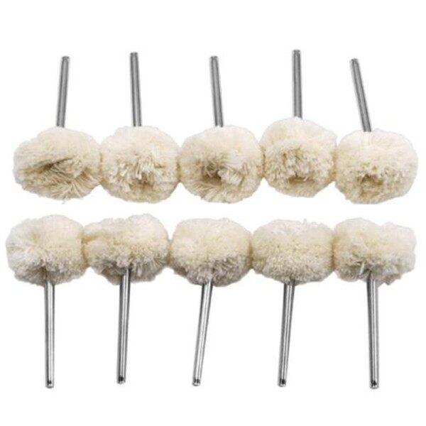 10pcs Wool Felt Polishing Wheels Buffing Pads W/ Shank Rotary Tool Kit Polishing