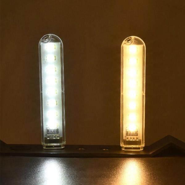 1PC Mini USB 8 LED Light Pocket Card Lamp Mobile Power Camping Laptop New