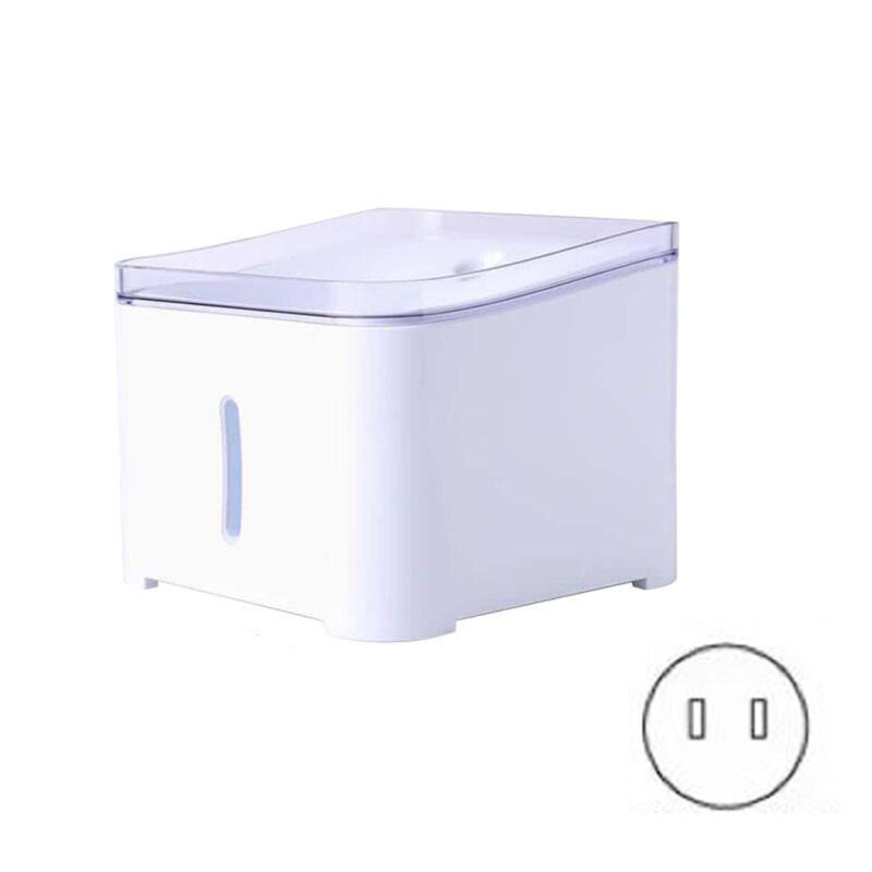 Xinyouyao15 với bộ lọc nước, mèo phân phối, đài phun nước tự động thông minh thú cưng tinh khiết trong nhà cửa sổ 2L Trắng) nước uống cho thú cưng 2 furrybaby Cat nước yên tĩnh (2L, đài phun nước, Chó với đèn LED siêu trắng