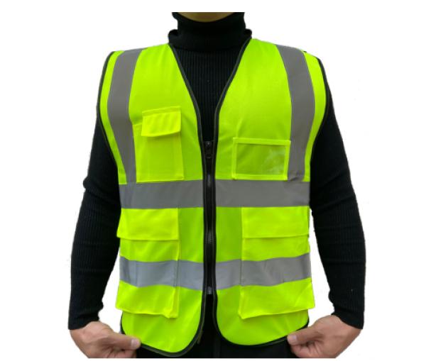 SAFETY VEST Green Vest Hijau with Multi Pocket Heavy Duty Type