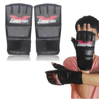 ZOOBOO Găng Tay Tập Quyền Anh Nửa Ngón, Găng Tay Chiến Đấu Sparring Thái Bảo Vệ MMA Thai- thumbnail
