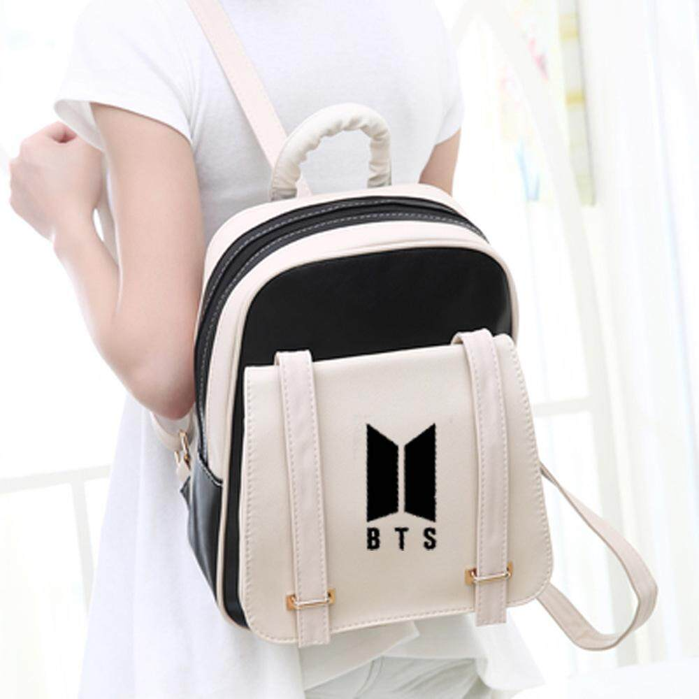 NEW KPOP Bts the same paragraph casual Korean version of the pu shoulder bag backpack school wind student couple