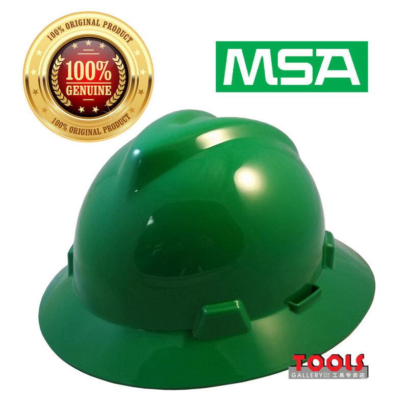 MSA V-Gard Full Brim Hard Hats(GREEN)/Safety Helmet/Head Protection