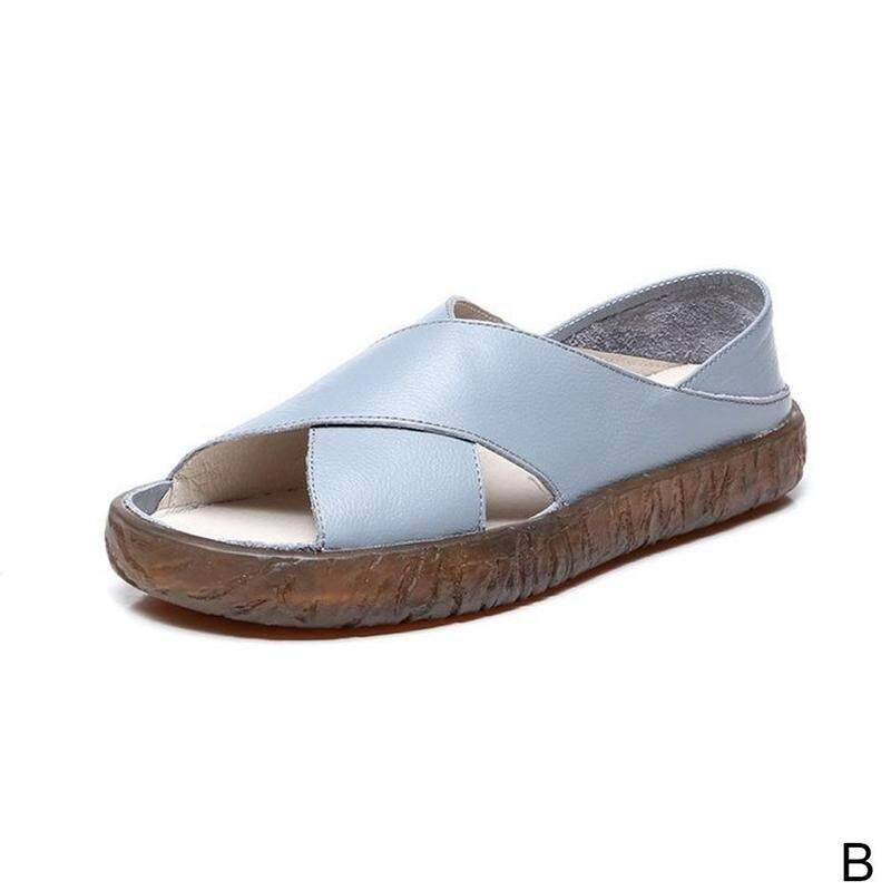 e8b19083131 One shoe two wearing sandals wild Korean pregnant women s shoes summer flat  mother comfortable slippers outside
