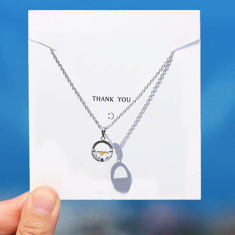 06717b237 S925 sterling silver necklace female Korean version of the simple student  Sen Department wild one Wang
