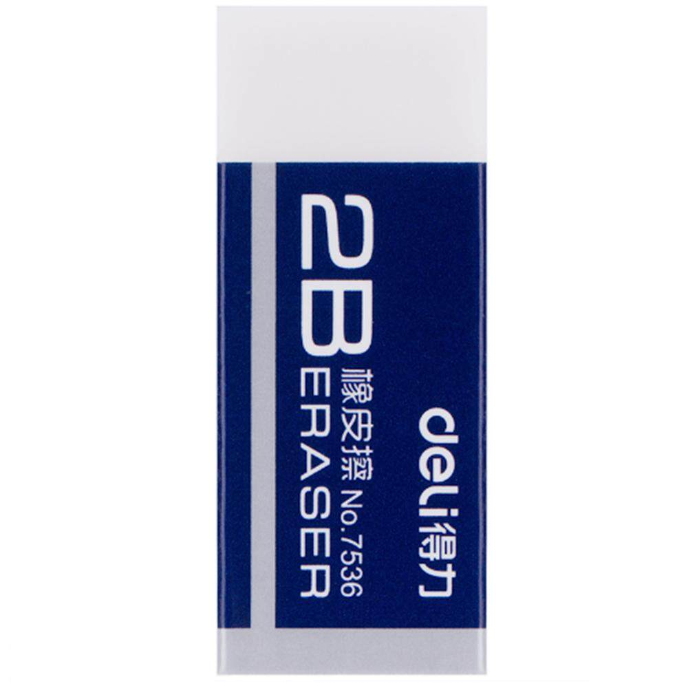 1pcs Deli 7536 2b Eraser For School Office 4.2cm X 1.7cm X 1cm By Freebang.